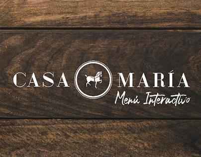 Casa María - Menú Interactivo