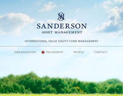 Brand Experience for Sanderson Asset Management