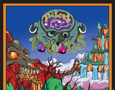 Potent Potions: Board Game Illustrations
