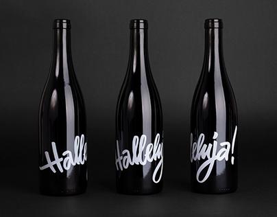 "Wine Bottle ""Halleluja!"""