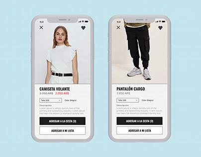 Clothing App - Tienda de ropa UI