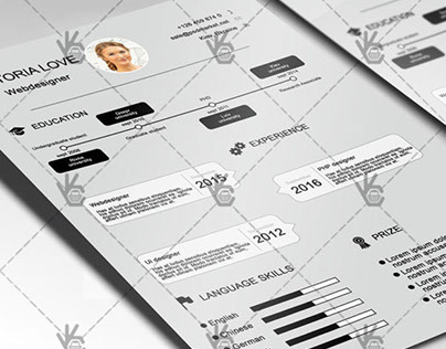Grey Clean Resume – Free PSD Template