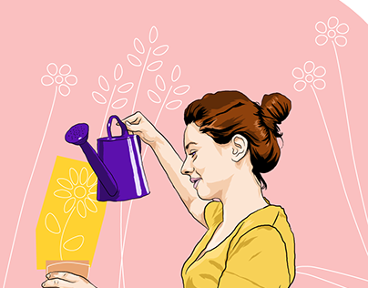 Mary Ann Evans Hospice Website Illustrations