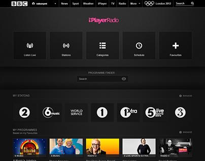 BBC iPlayerRadio early concept