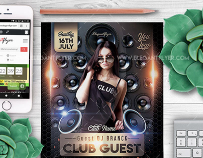 Club Guest – Flyer PSD Template
