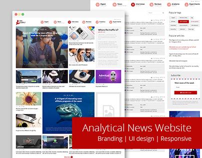 UI responsive design for Analytical News Website
