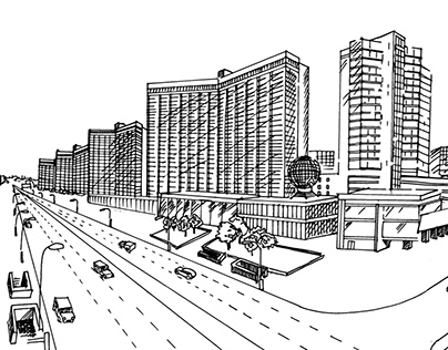 Illustrations for interior design for the Ямское Поле