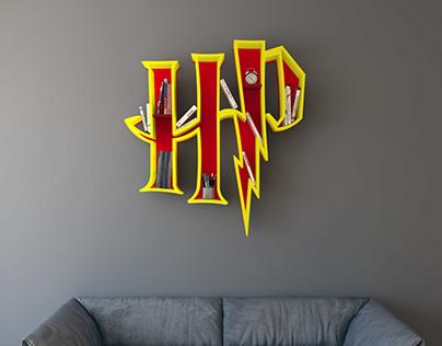 Harry Potter Logo Bookshelf