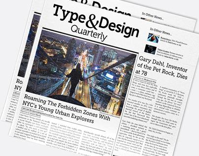 Type & Design Quarterly - Newspaper Project