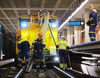 Night in the Metro of Helsinki