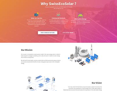 SwissEcorSolar Website Design and Development