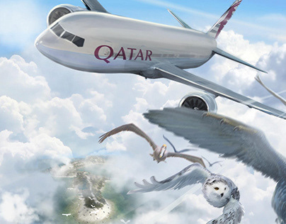 Qatar Airways Visual Ilustration