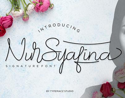 NurSyafina-SIgnature Script font