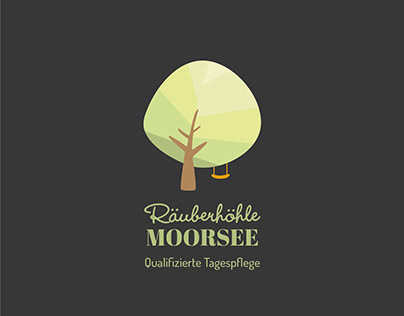 Logo design for day care Räuberhöhle Moorsee
