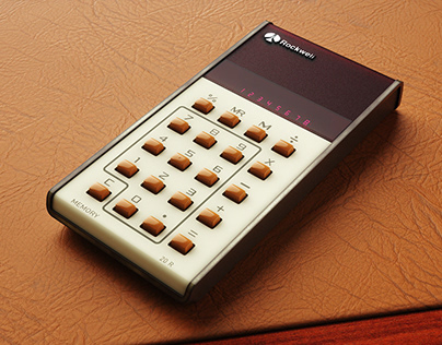 70's Rockwell 20 R Calculator CAD model and renderings