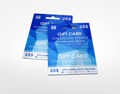 Hanging Gift Card Mock-up