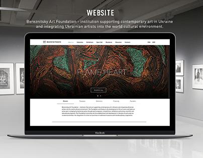 website for Art Foundation