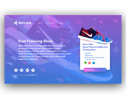 Patuan - Modern Landing Page for Shoes