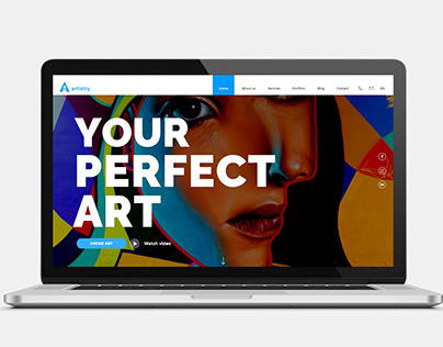 Web design for Artistry company