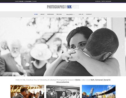 Wedding and Creative Photography Portfolio Website