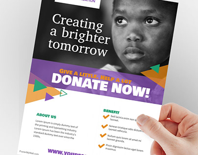 Charity Donation Non Profit Organisation Flyer Template