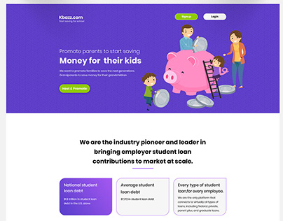 Landing Page Save money for child