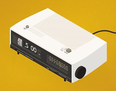 Isometric clock radio