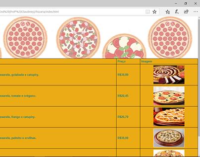Site Cardápio de pizzas