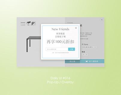 Daily UI #016_Pop-Up/Overlay