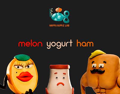 MELON YOGURT HAM