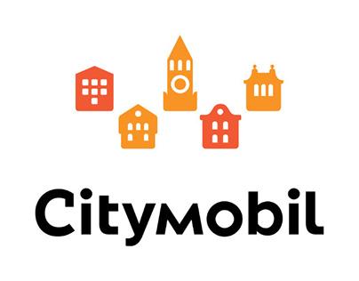 Логотип и фирменный стиль такси «Ситимобил»