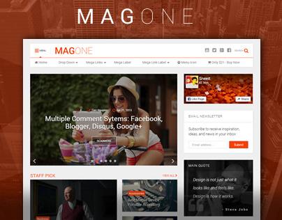 MagOne - Ultimate Blogger Magazine Template