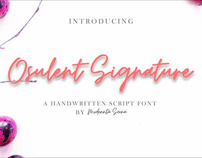 Osulent Signature Script font
