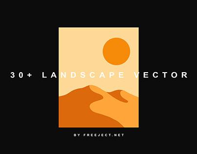 Free DEMO Landscape Vector Illustration