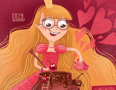 Princess, cherriesand chocolate!