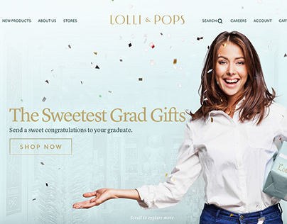 Lolli and Pops Website Redesign and Newsletter design