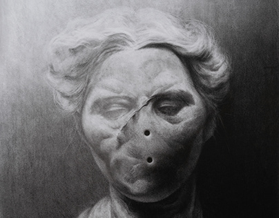 mrs potato head. (charcoal)