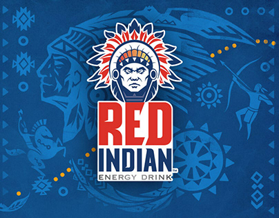 Red Indian Logo - Label - POSM