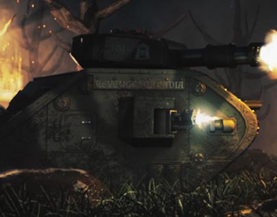 Leman Russ Warhammer 40K 3D Scene