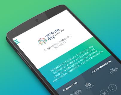 Venture Day Events 2014 App - graphic design
