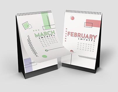 2020: 12 Month Calendar