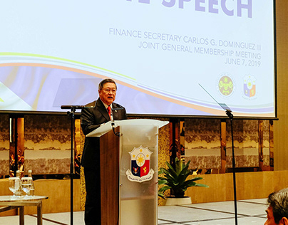 DOF Sec. Sonny Dominguez with Makati Business Club