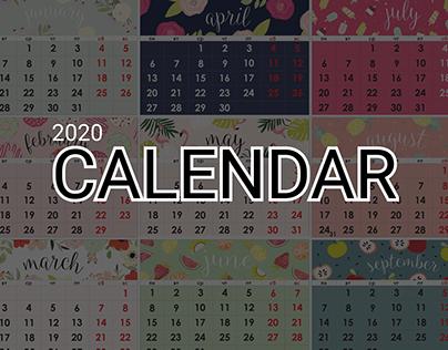Calendar 2020   Graphic design