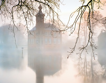 Old Castle in Fog