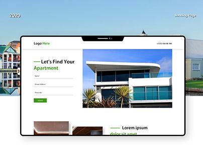 Real Estate Landing Page Designed