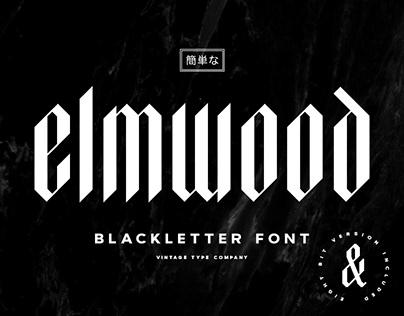 Elmwood Blackletter Display Font