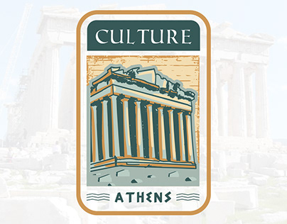 "Athens badge design called ""CULTURE"""