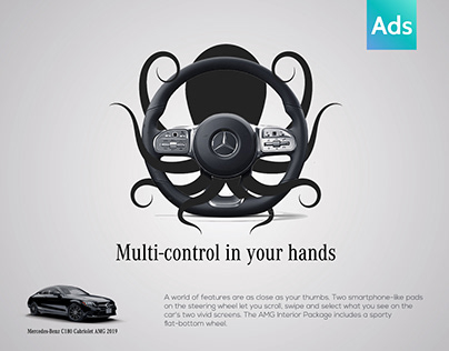 Mercedes-Benz C180 Cabriolet 2019 paddles Unofficial Ad