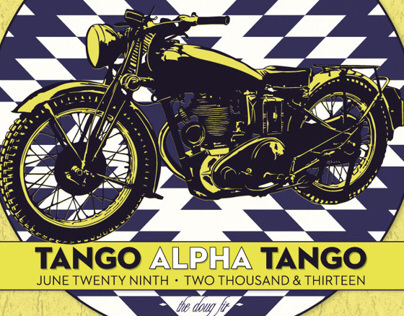 Tango Alpha Tango - Black Cloud Tour Poster