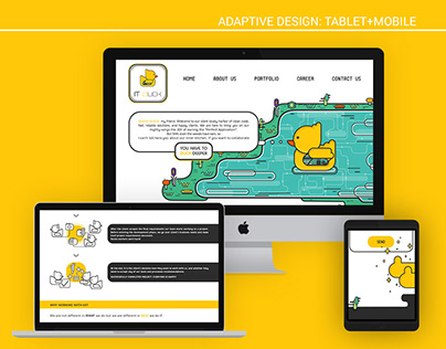 Logotype and site for IT Duck